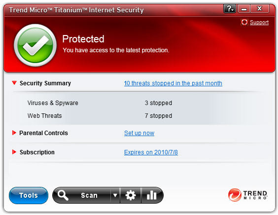 Trend Micro Titanium Internet Security (10% Discount)