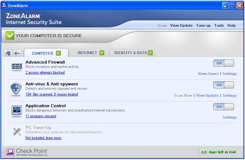 ZoneAlarm Internet Security Suite 2012 50% OFF