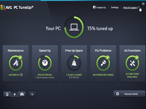 AVG PC TuneUp Screenshots 1
