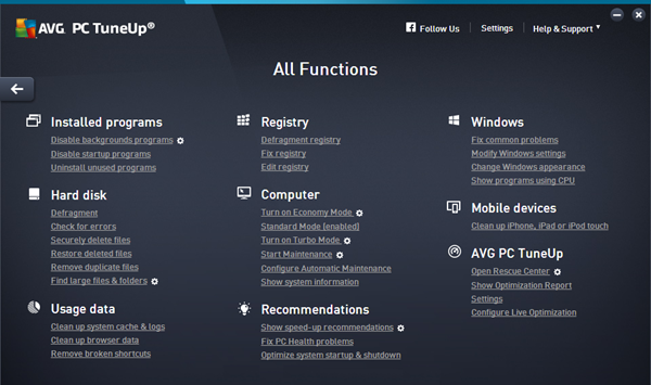 AVG PC TuneUp Screenshots 2