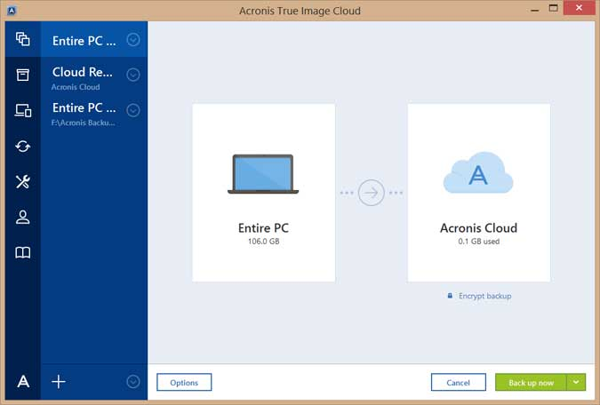 Acronis True Image 2017 Screenshots 1