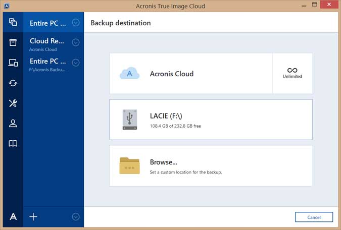Acronis True Image 2017 Screenshots 2