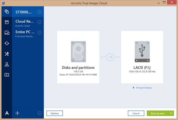 Acronis True Image 2017 Screenshots 4