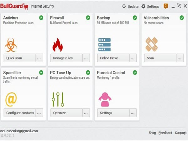 BullGuard Internet Security – 70% OFF Screenshots 1