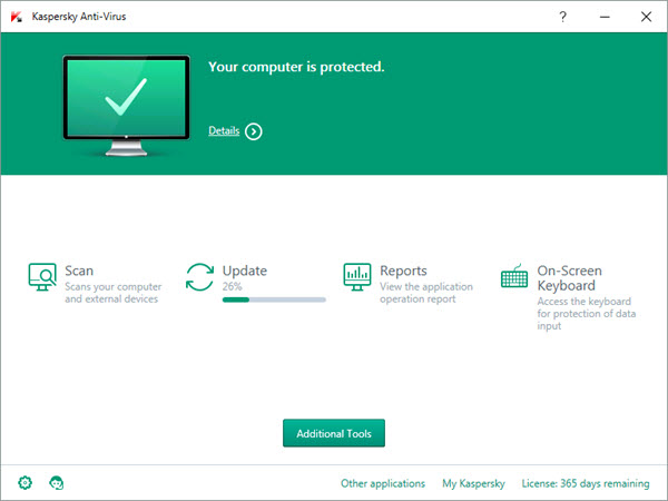 Kaspersky Antivirus Screenshots 1