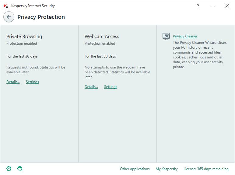Kaspersky Internet Security Screenshots 2