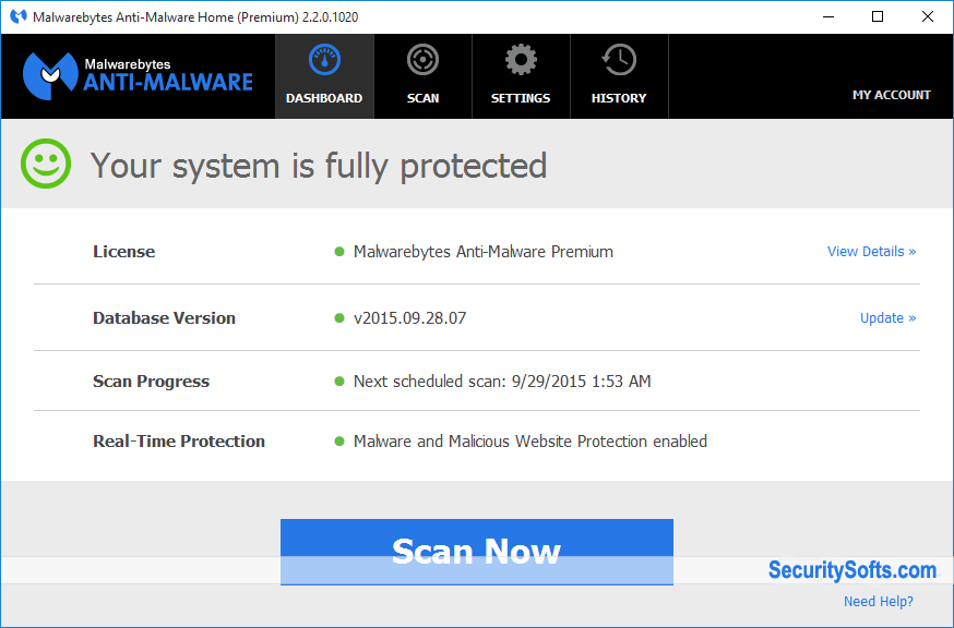 Malwarebytes Anti-Malware Premium Screenshots 1
