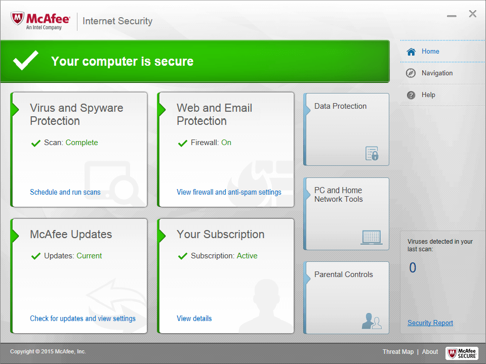 McAfee Internet Security 2016 – 50% Discount Screenshots 1