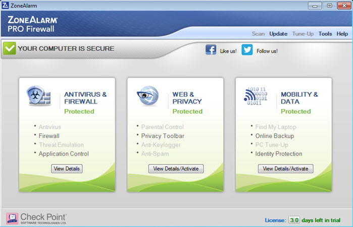 ZoneAlarm PRO FIREWALL 2016 – 75% OFF Screenshots 1