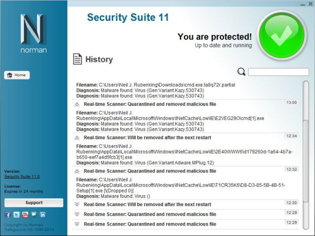 Norman Antivirus Screenshots 3