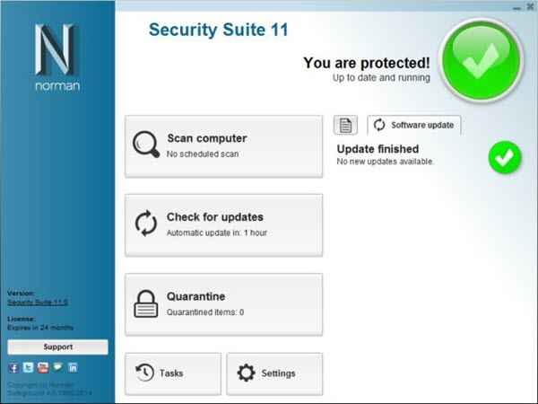 Norman Antivirus Screenshots 1