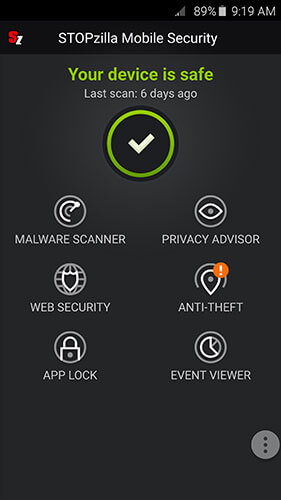 STOPzilla Mobile Security Screenshots 1