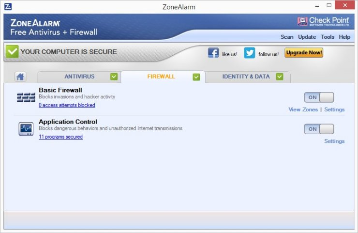 ZoneAlarm FREE ANTIVIRUS + Firewall 2016 Screenshots 7