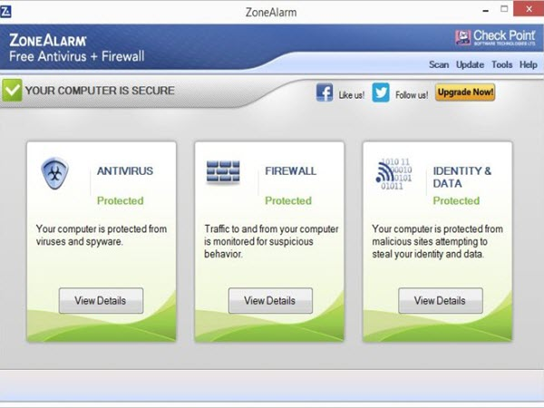 ZoneAlarm FREE ANTIVIRUS + Firewall 2016 Screenshots 1