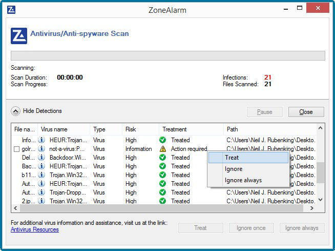 ZoneAlarm FREE ANTIVIRUS + Firewall 2016 Screenshots 4