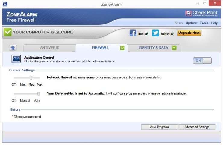 ZoneAlarm FREE FIREWALL 2016 Screenshots 3