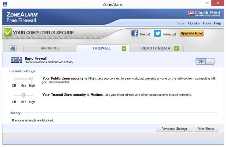 ZoneAlarm FREE FIREWALL 2016 Screenshots 2