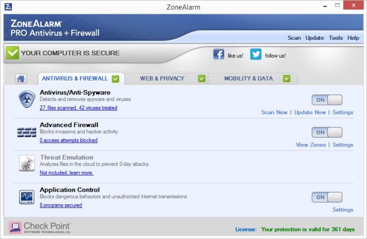 ZoneAlarm PRO ANTIVIRUS + FIREWALL 2016 – 70% OFF Screenshots 2
